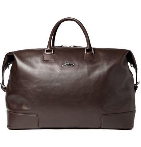 Brioni Large Leather Travel Bag