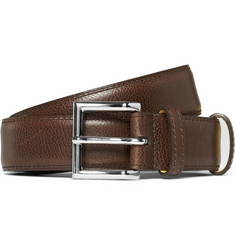 John Lobb Cross-Grain Leather Belt