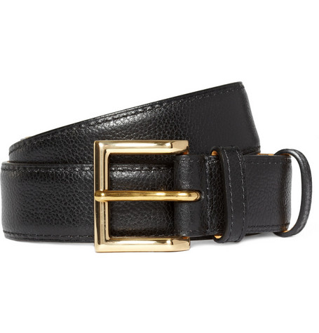 John Lobb Full-Grain Leather Belt