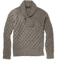 Incotex - Zanone Chunky Shawl Collar Sweater