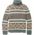 Incotex Zanone Chunky Fair Isle Rollneck Sweater
