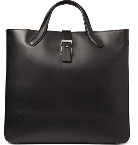 Bill Amberg Suede-Lined Leather Tote Bag