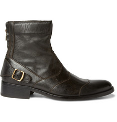 Belstaff Distressed Leather Boots