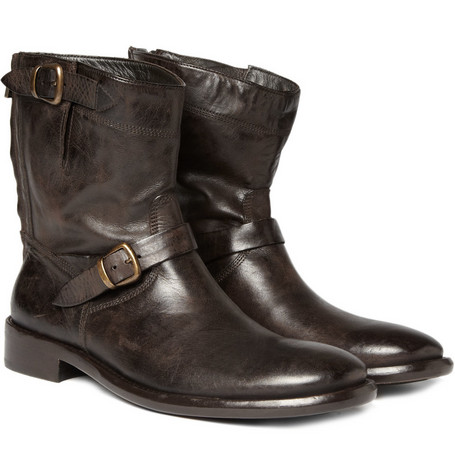 Belstaff Barkmaster Worn Leather Boots