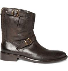Belstaff Barkmaster Worn Leather Boots