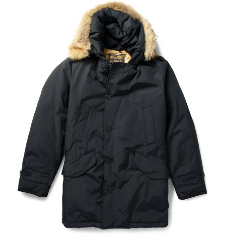 Woolrich Coyote-Trimmed Padded Parka Coat