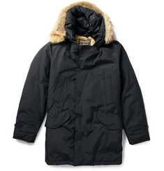Woolrich Coyote Trimmed Padded Parka Coat