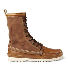 Quoddy Maine Woodsman Leather and Canvas Boots