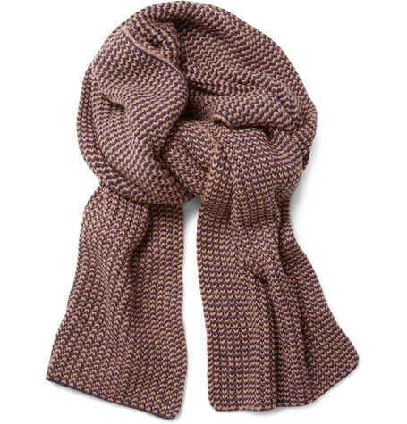 A.P.C. Ribbed Wool and Cashmere Scarf