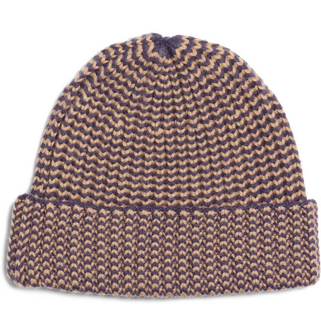 A.P.C. Ribbed Wool and Cashmere Hat
