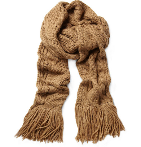 Marc by Marc Jacobs Cable Knit Wool-Blend Scarf