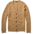 Raf Simons Knitted Camel Hair Cardigan