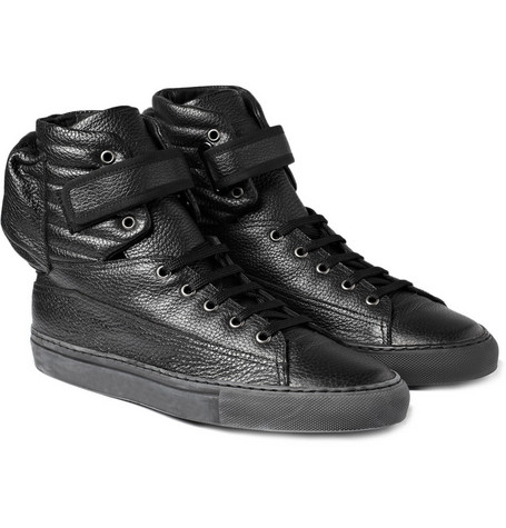 Raf Simons Leather High Top Astronaut Sneakers