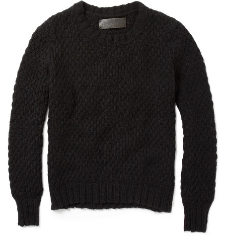 The Elder Statesman Pop Crew Cashmere Aran Sweater
