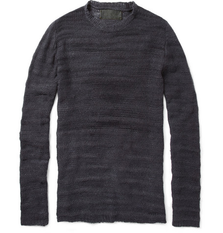 The Elder Statesman Ridge Crew Neck Cashmere Sweater