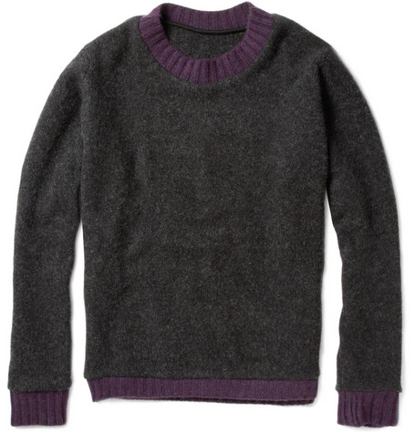 The Elder Statesman Contrast Trim Cashmere Sweater