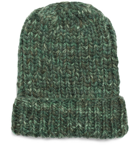 The Elder Statesman Straight Ski Thick-Knit Cashmere Hat