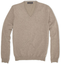 Brooks Brothers Merino Wool-Blend V-Neck Sweater