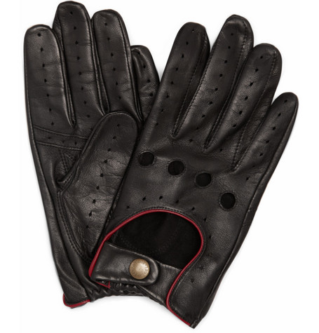 Dents Suede-Lined Leather Driving Gloves