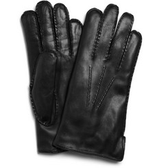 Dents Rabbit-Lined Leather Gloves