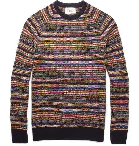 YMC Fair Isle Merino Wool Sweater
