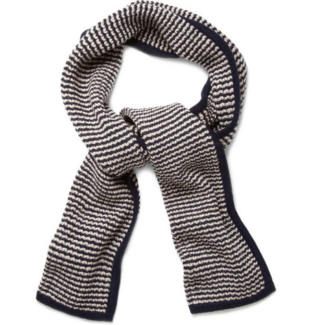 YMC Striped Merino Wool Scarf
