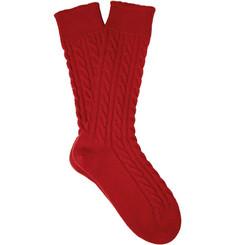 Corgi Cable Knit Cashmere Socks