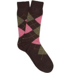 Pantherella Cashmere-Blend Argyle Socks