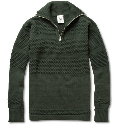 S.N.S. Herning Zipped Bubble Knit Sweater