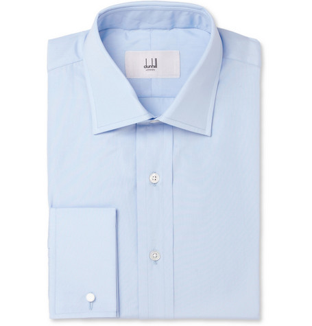 Alfred Dunhill Blue Cotton Shirt