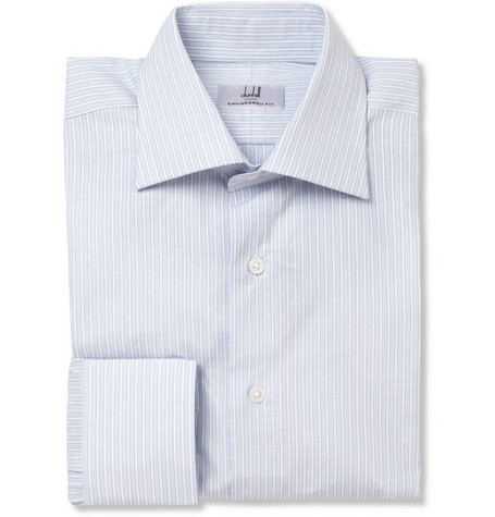 Alfred Dunhill Jacquard Striped Cotton Shirt