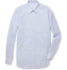 Alfred Dunhill Check Cotton and Linen-Blend Shirt