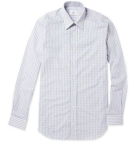Alfred Dunhill Checked Cotton Pointed Collar Shirt