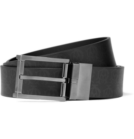 Alfred Dunhill Cut-to-Fit Printed Leather Belt