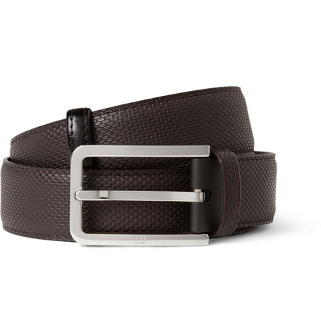 Alfred Dunhill Cut-to-Fit Embossed Leather Belt