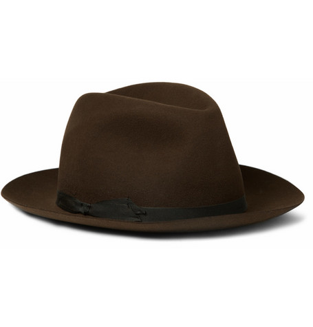 Lock & Co Hatters Rabbit-Felt Fedora Hat