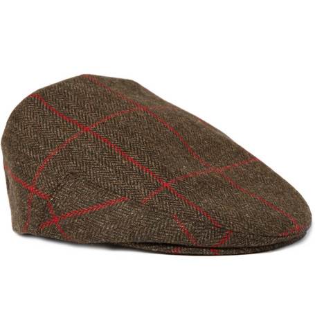 Lock & Co Hatters Herringbone Tweed Flat Cap