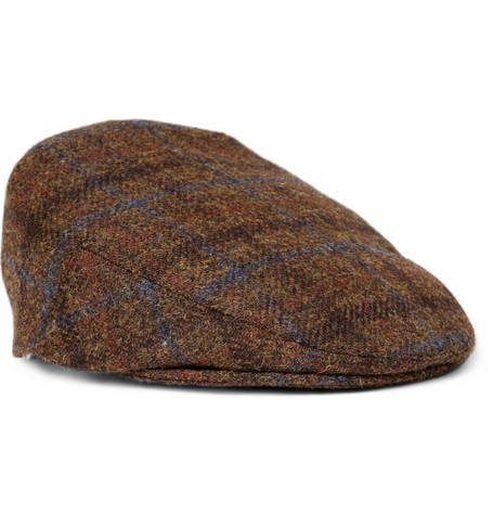 Lock & Co Hatters Harris Tweed Wool Flat Cap