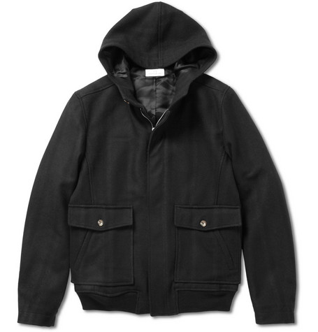 Hentsch Man Wool-Blend Hooded Jacket