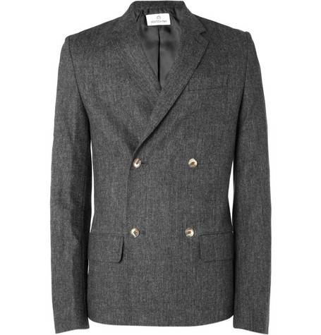 Hentsch Man Double-Breasted Wool-Blend Jacket