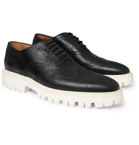 Burberry Shoes & Accessories Contrasting Sole Leather Brogues