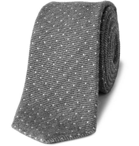 J.Crew Pin Dot Wool and Silk-Blend Tie