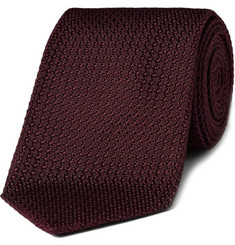 Drakes Woven Patterned Silk Tie