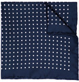 Drake's - Spot Print Silk Pocket Square