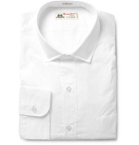 J.Crew Spread-Collar Cotton Shirt