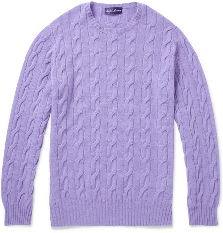 Ralph Lauren Purple Label Cable Knit Cashmere Sweater