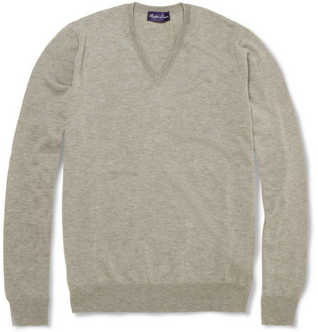 Ralph Lauren Purple Label V-Neck Cashmere Sweater