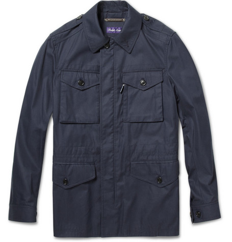 Ralph Lauren Purple Label Cotton-Blend Twill Field Jacket