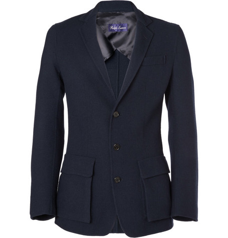Ralph Lauren Purple Label Unstructured Elbow Patch Blazer