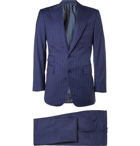 Ralph Lauren Purple Label Madison Pinstripe Wool Suit